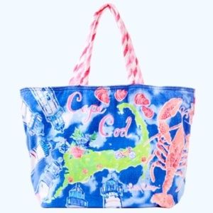 Lilly Pulitzer Destination Beach Tote Cape Cod